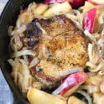 Delicious Apple Pork Chops with Caramelized Onions will quickly become a family favorite. This classic combination makes a perfect fall or winter dinner.