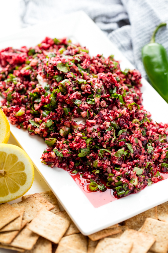 Cranberry Salsa Over Cream Cheese