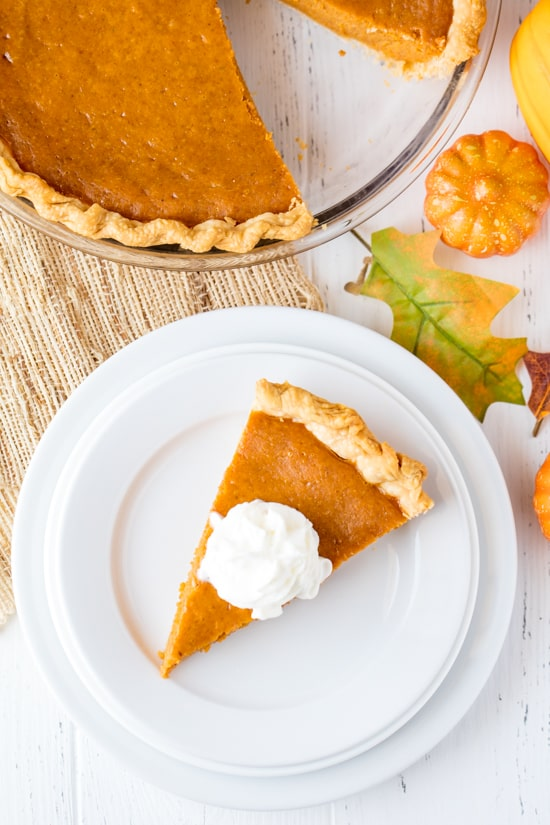 This Pumpkin Pie is so easy to make, I call it Easy Peasy Pumpkin Pie! It requires just a few ingredients, and five minutes of your time to get it into the oven. Perfect for Thanksgiving and Christmas!