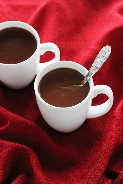 This hot chocolate isn't for the faint of heart. It is rich, thick, and full of real chocolate. This is the kind of hot chocolate you make when you want to truly indulge!