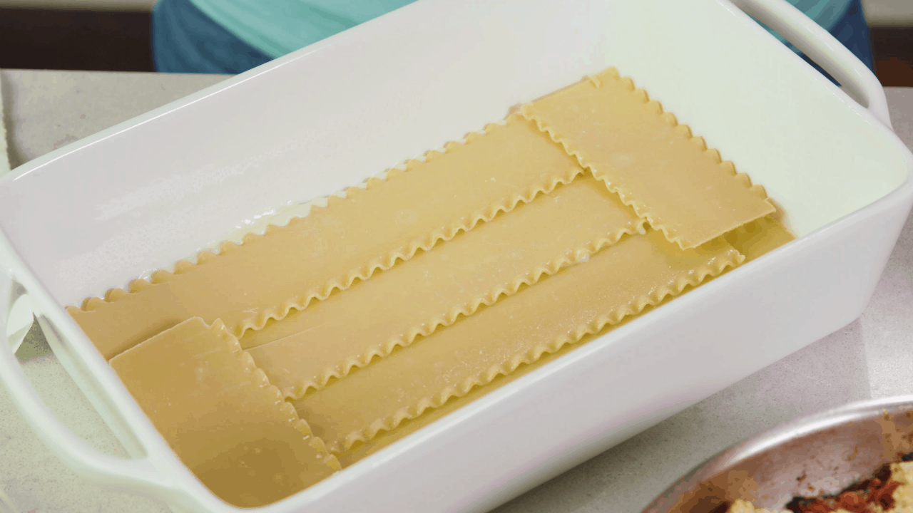 Lasagna Pasta Sheets in Pan