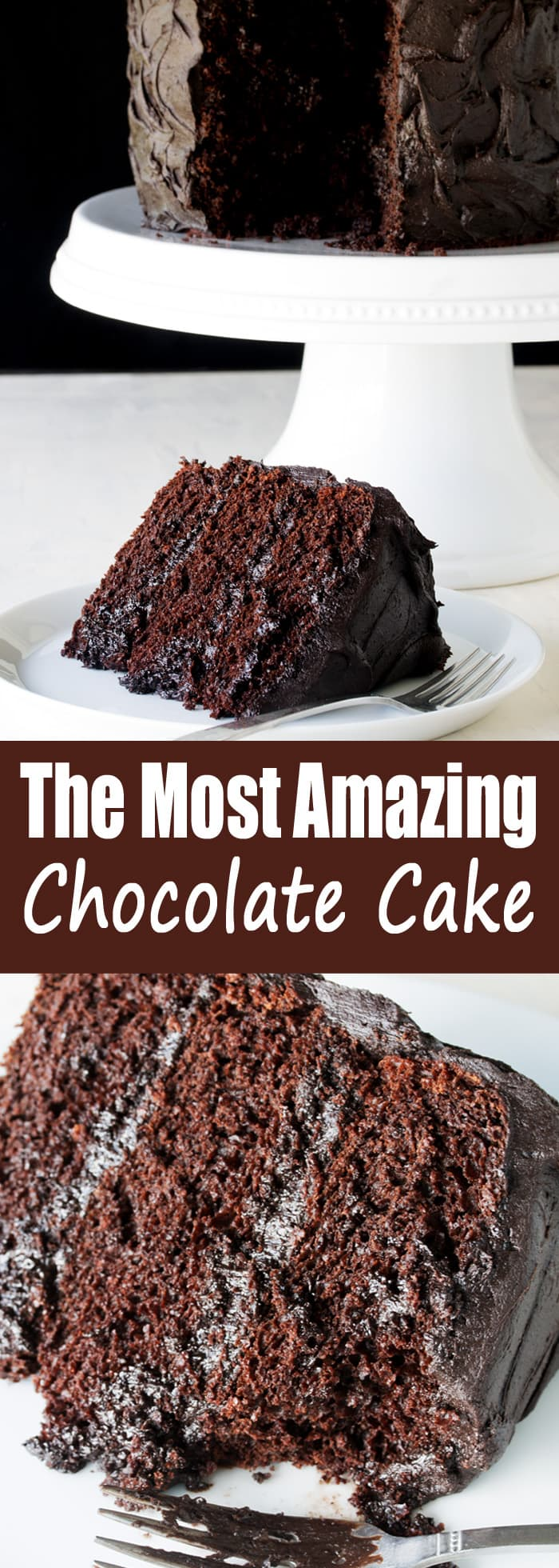 The Most Amazing Chocolate Cake Recipe - thestayathomechef.com