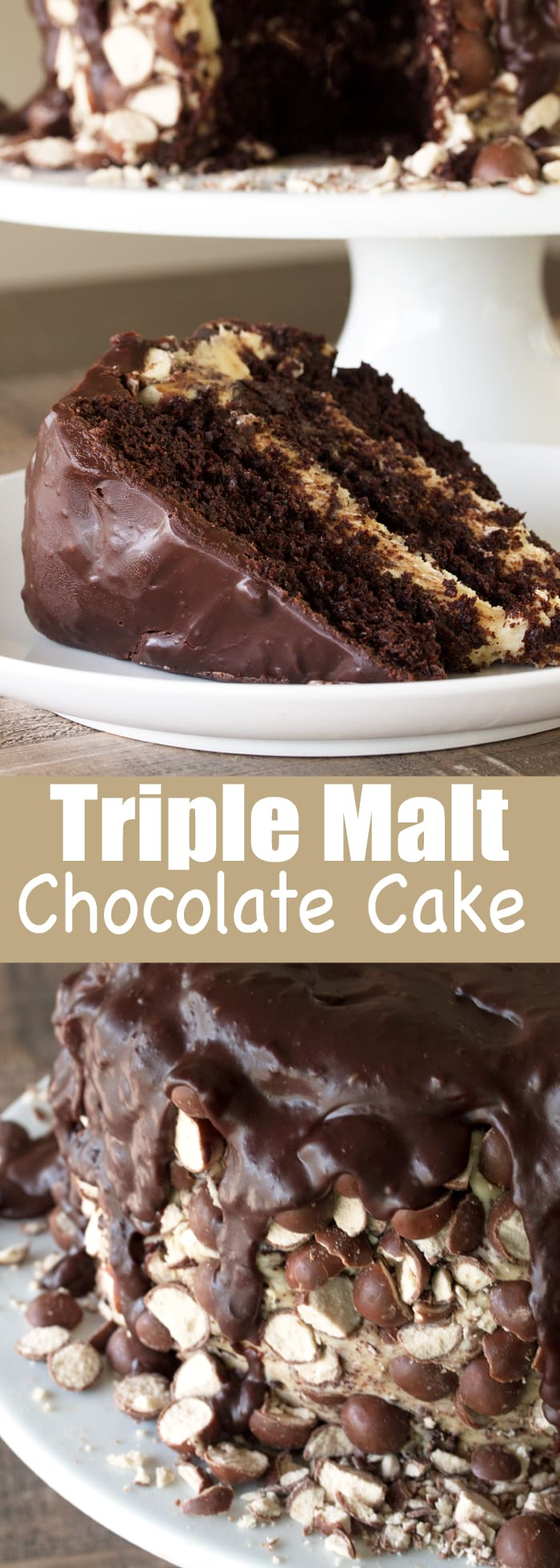 Triple Malt Chocolate Cake