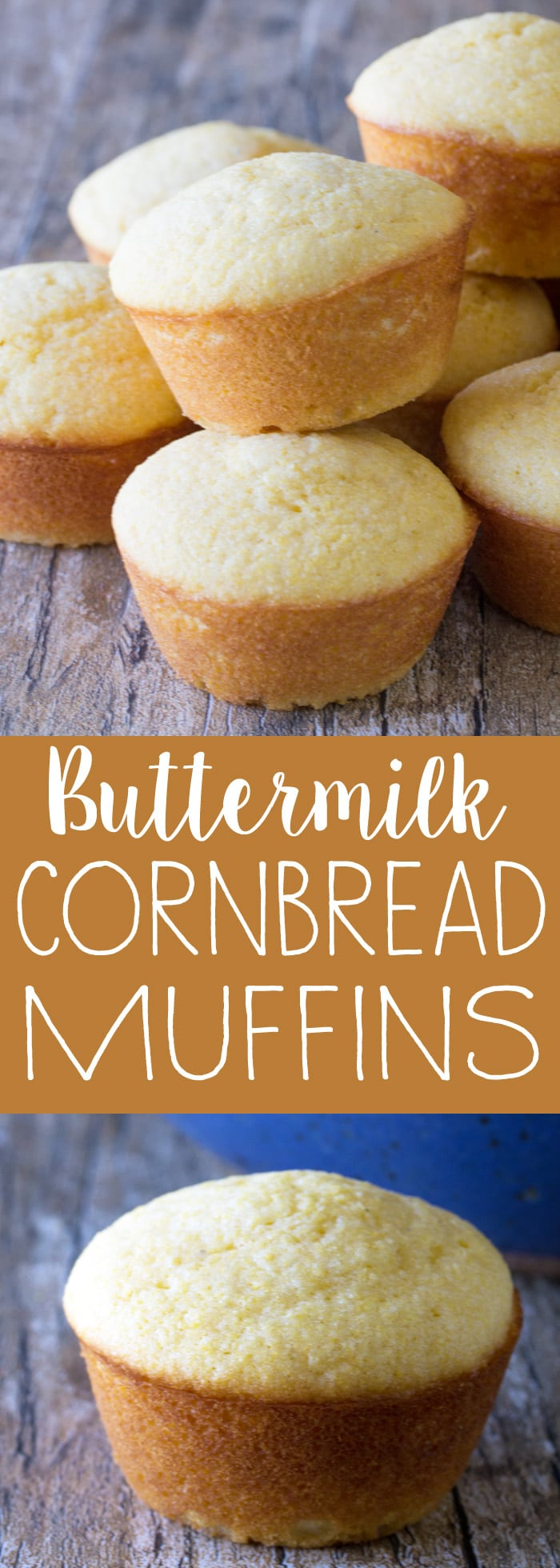 Sweet, buttermilk cornbread muffins that are super easy to make and super tasty too. It doesn't get any easier!