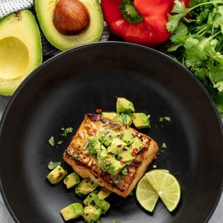 Quick and Easy Sea Bass with Avocado Salsa