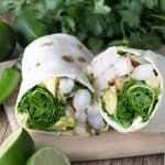 A light, easy, and healthy wrap that's full of flavor. Spicy Cilantro-Lime Shrimp and Avocado Wraps are the perfect summer lunch or dinner.