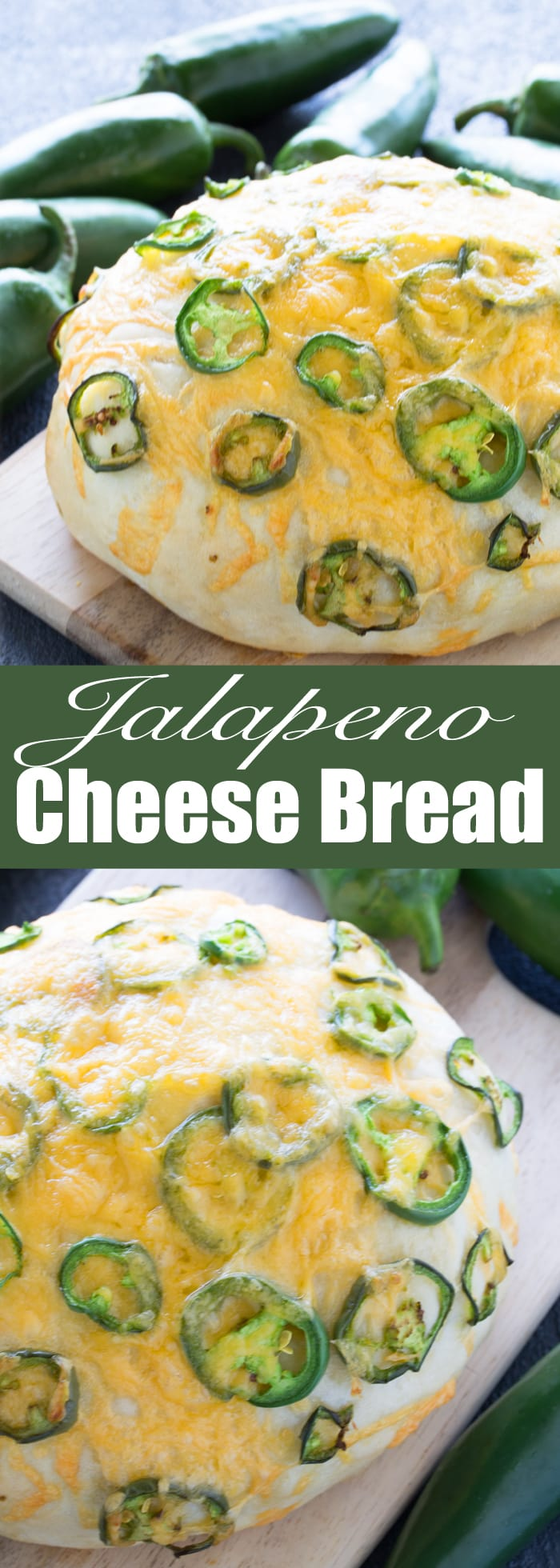 Skip the bakery and make this easy artisan Jalapeno Cheese Bread at home. Just 6 ingredients is all that is needed for this easy homemade artisan bread!