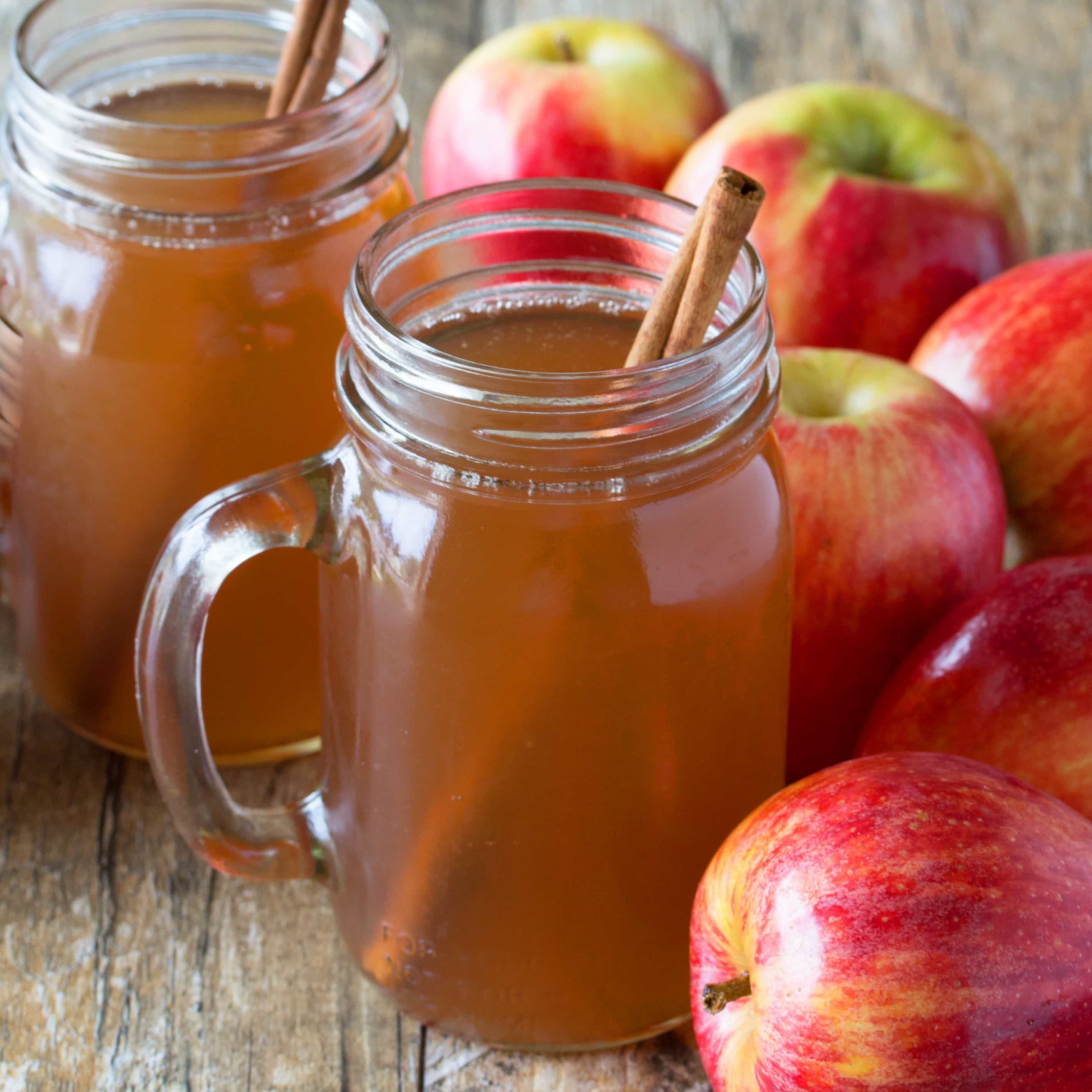 Slow Cooker Apple Cider Made From Scratch