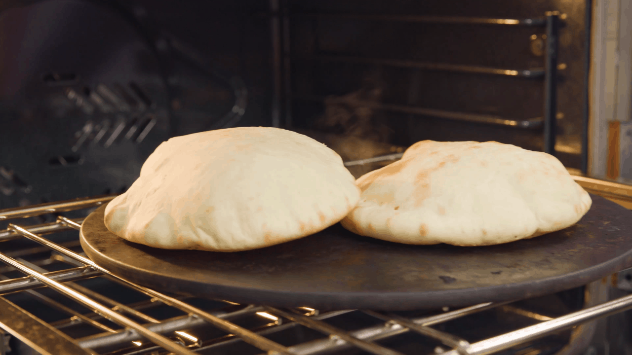 Baking Pita Bread in the Oven