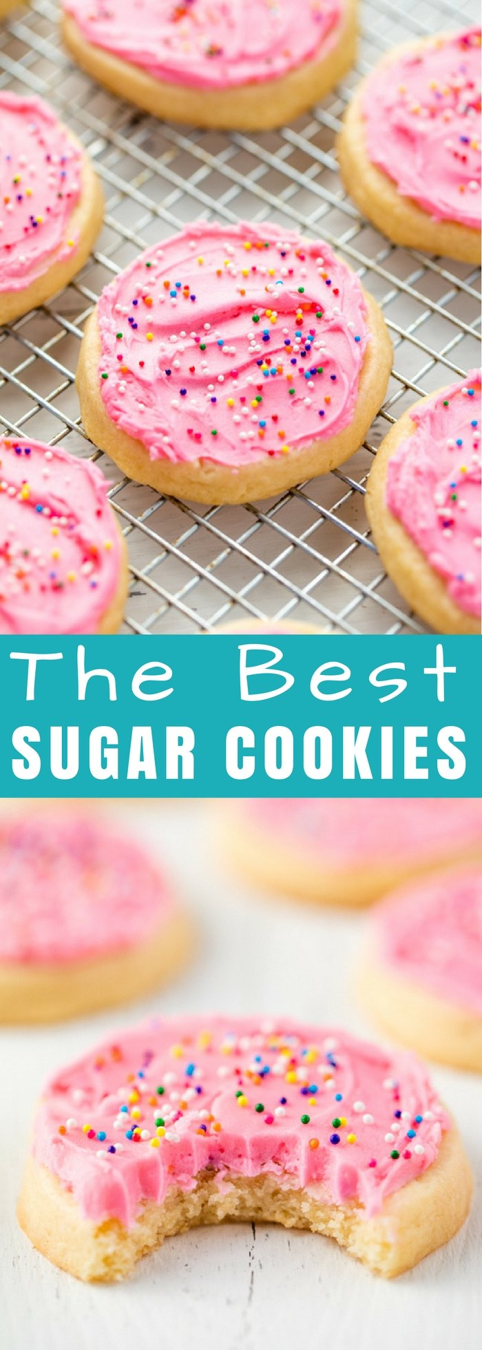 This Sugar Cookie recipe is absolute perfection with a perfectly soft sugar cookie every single time. It's the perfect easy sugar cookie recipe for every occasion!