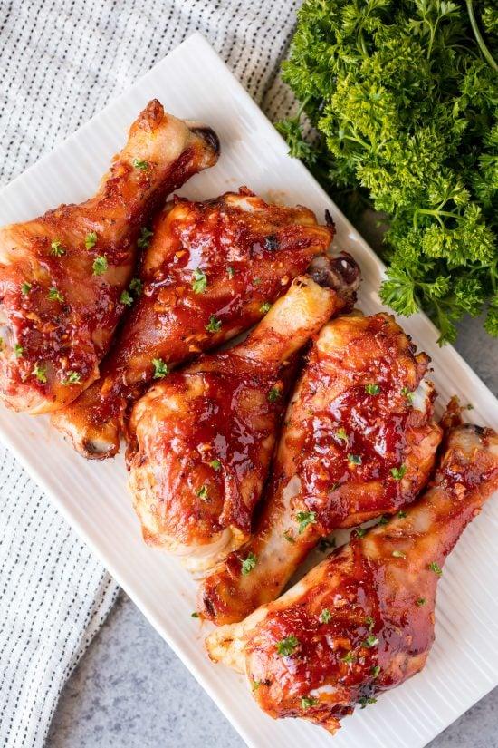 Honey Garlic Barbecue Chicken Drumsticks