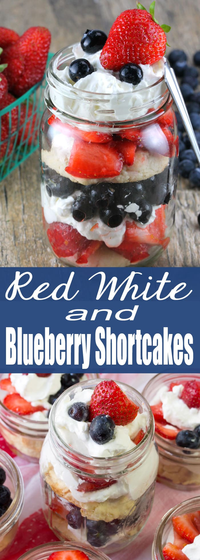Homemade sweet biscuits, sweet seasoned berries, and freshly whipped cream.  Red White and Blueberry Shortcake is the perfect patriotic dessert.