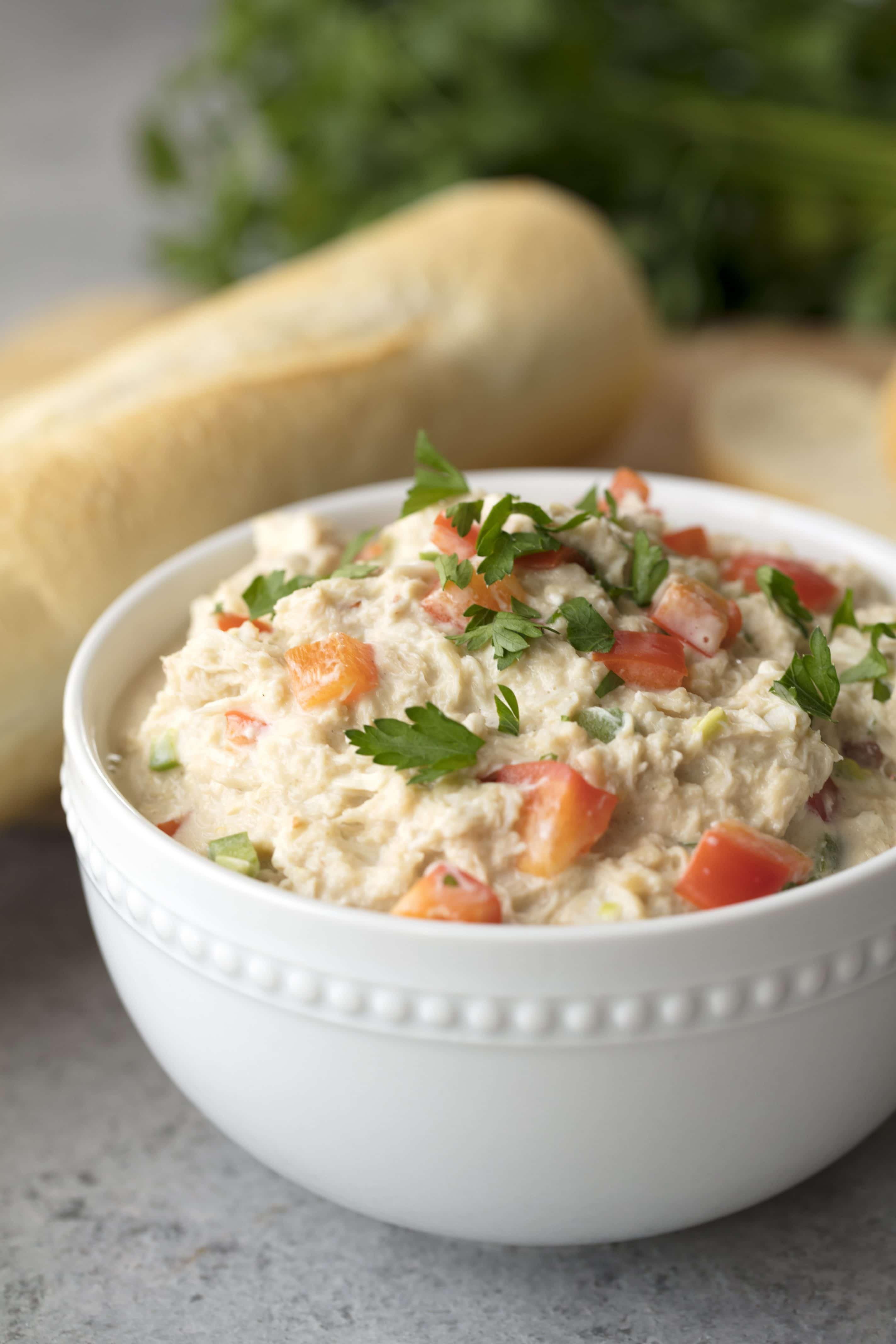 Free up time by making dip in the slow cooker. This Slow Cooker Spicy Crab Dip is a favorite at any party. It's the best crab dip you'll ever have!