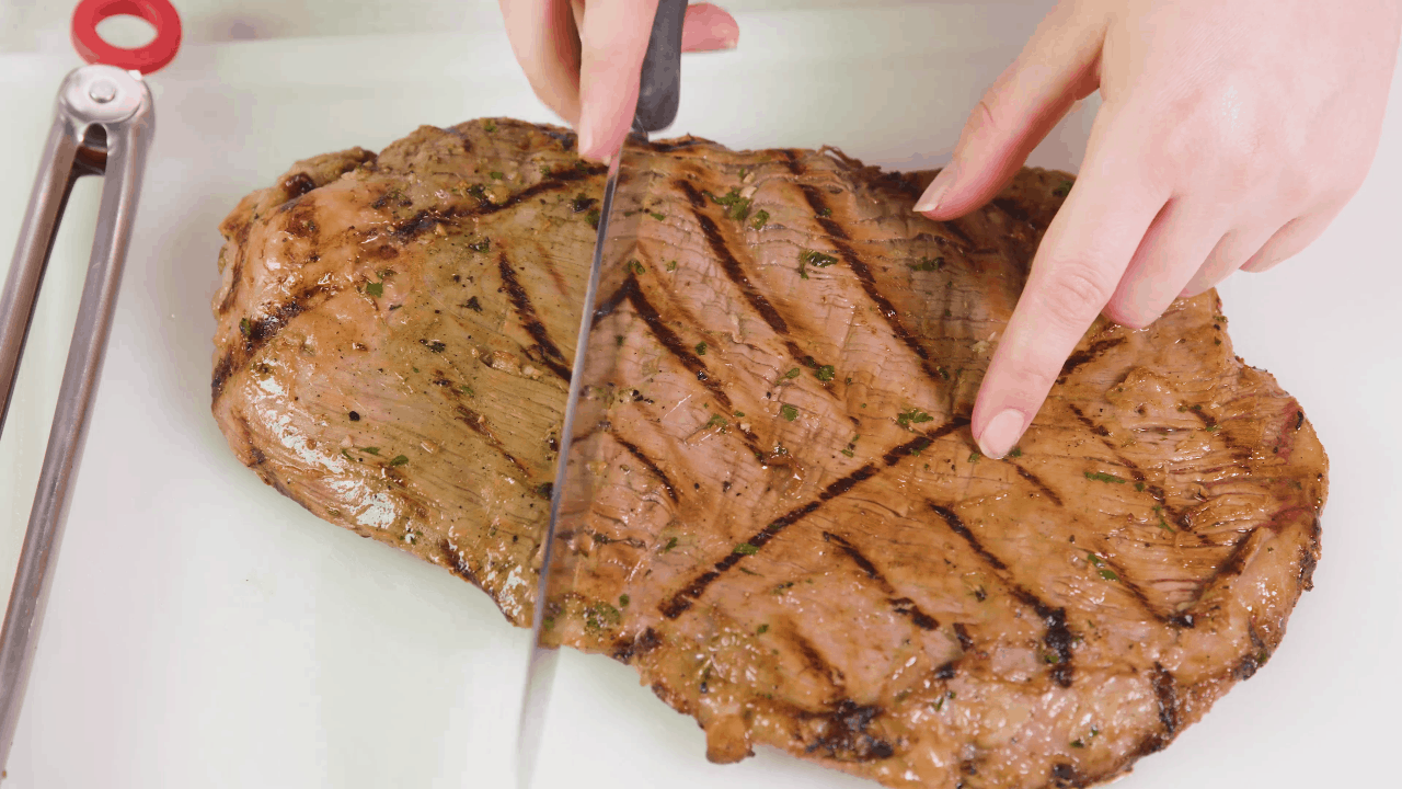 Slice Carne Asada Against the Grain