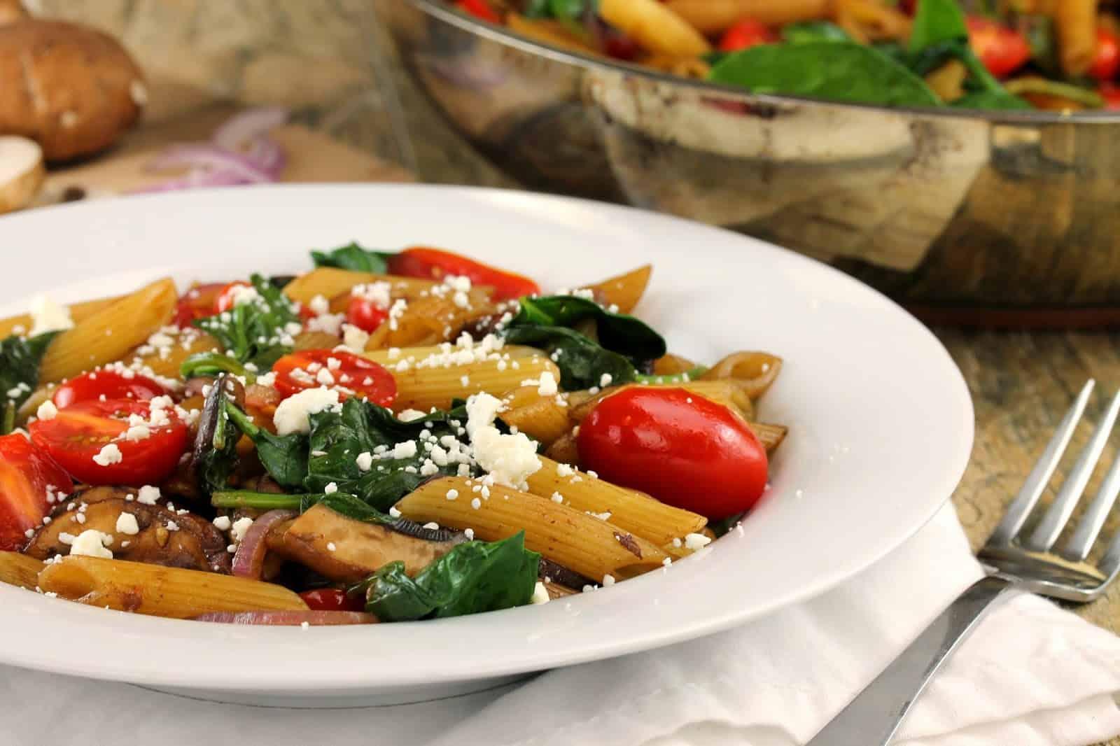 Pasta fresca in a white bowl.