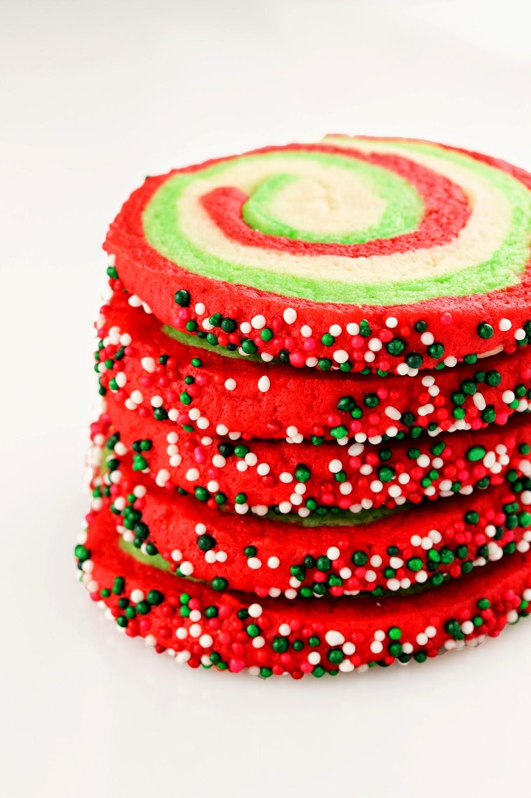 Spiral Christmas Sugar Cookies