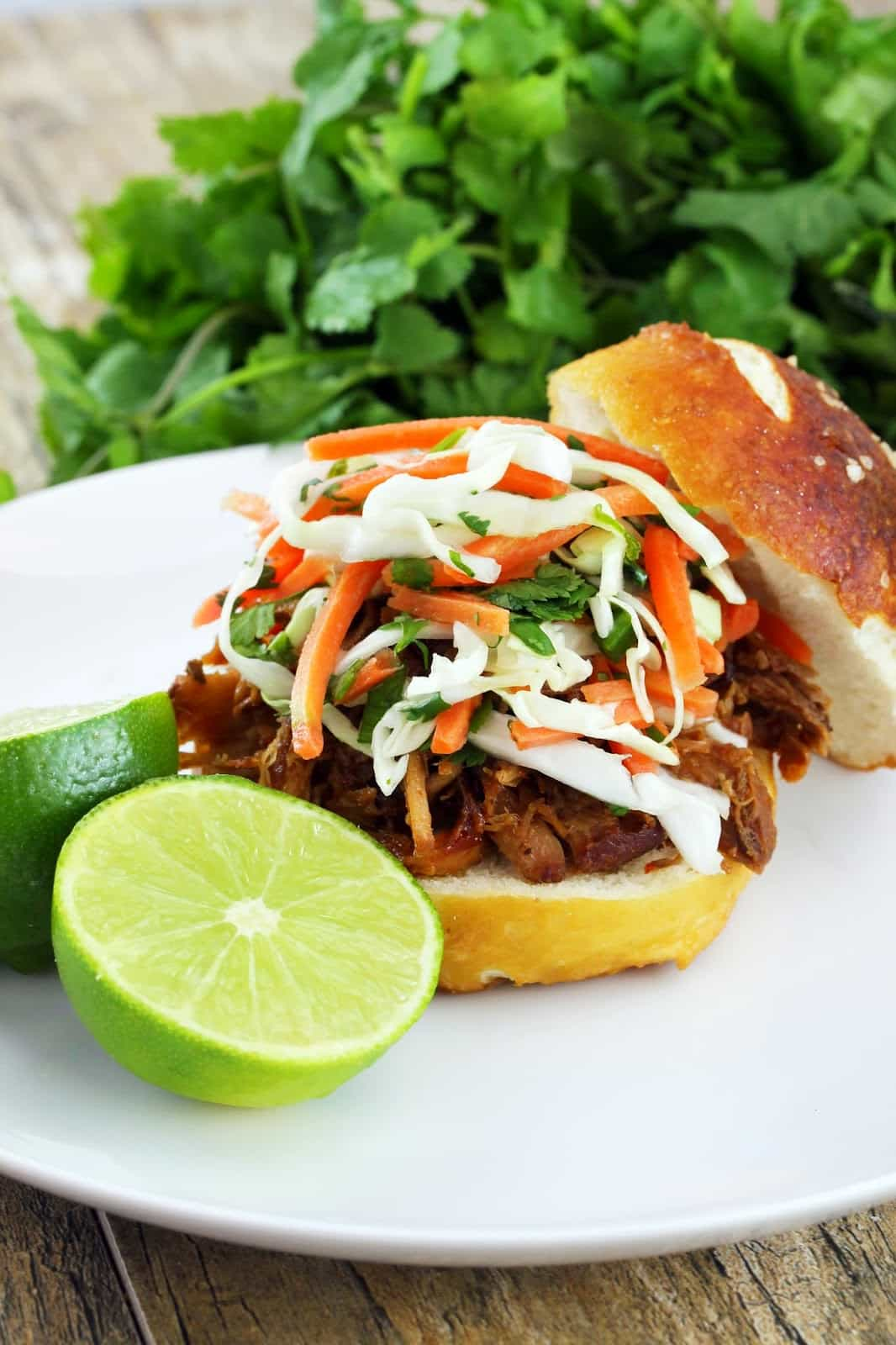 Thai-Style Pulled Pork Sandwiches (Slow Cooker)