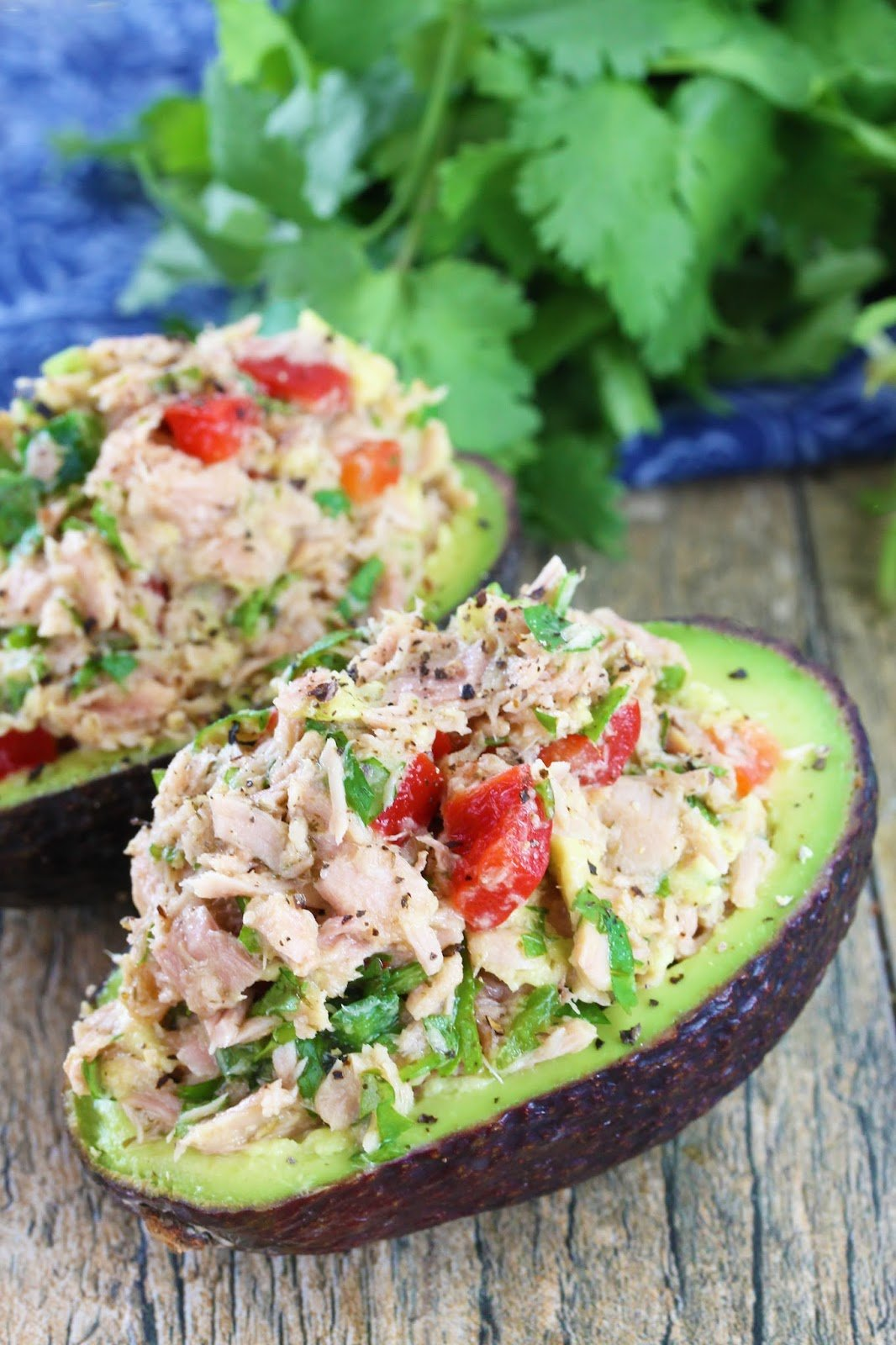 Image result for Tuna Stuffed Avocado Cups
