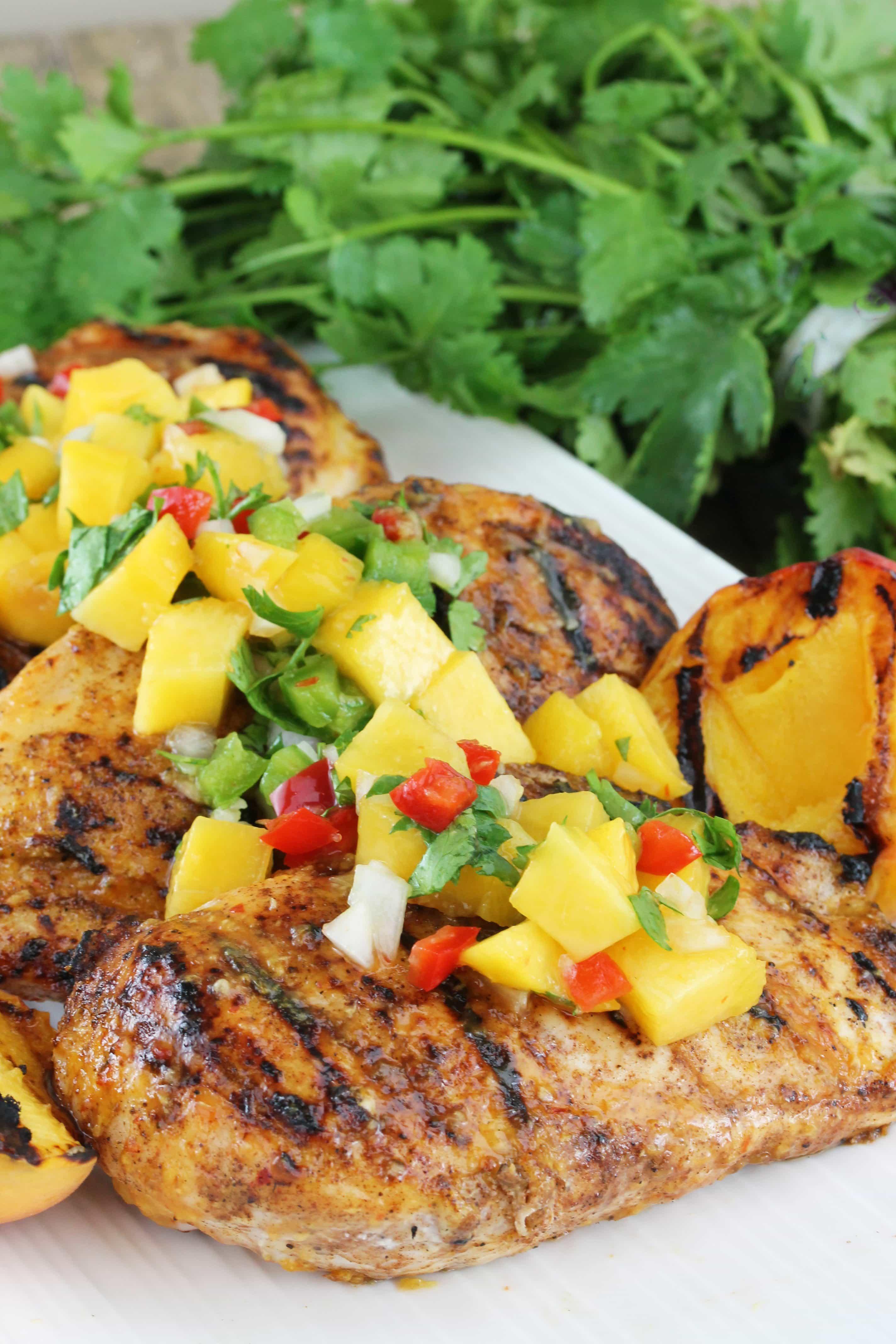 Chipotle-Peach Glazed Grilled Chicken Breast