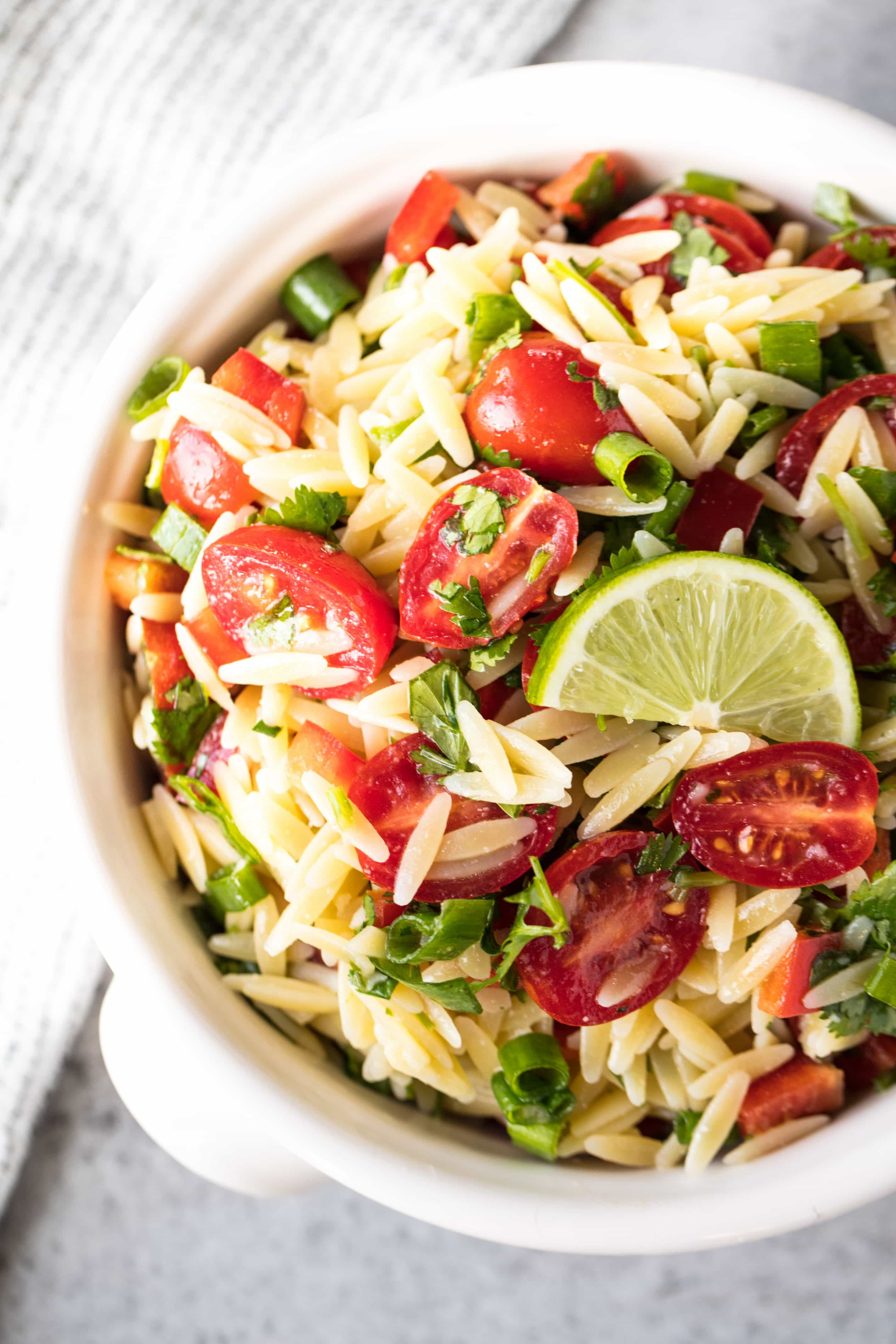 Cilantro-Lime Orzo Pasta Salad is light, refreshing, delicious, and perfect for picnics, potlucks, and backyard barbecues.