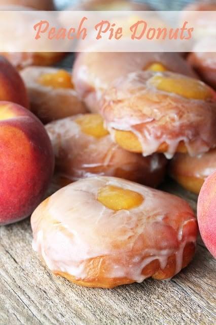 Peach pie donuts