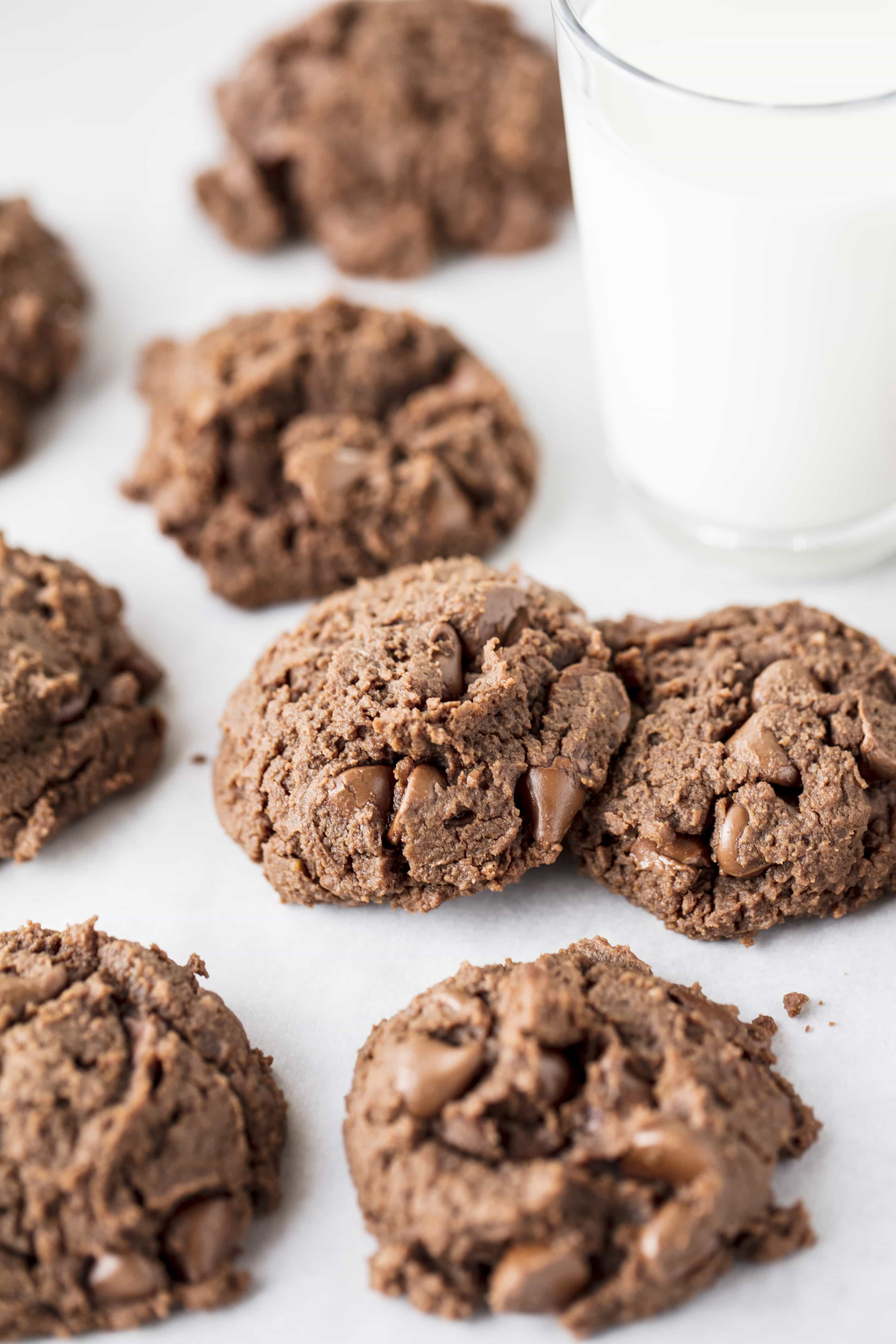 Gluten-Free Peanut Butter Nutella Cookies are super moist and completely fool proof. You'd never know they were made out of beans!