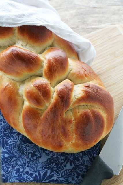 Learn how to make Homemade Challah Bread. This easy-to-make version of the traditional Jewish bread is soft and sweet and perfect for eating plain or serving up as the most amazing french toast.