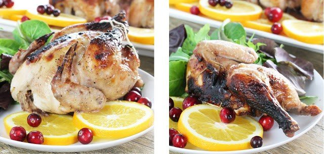 Easy Cran-Orange Cornish Hens