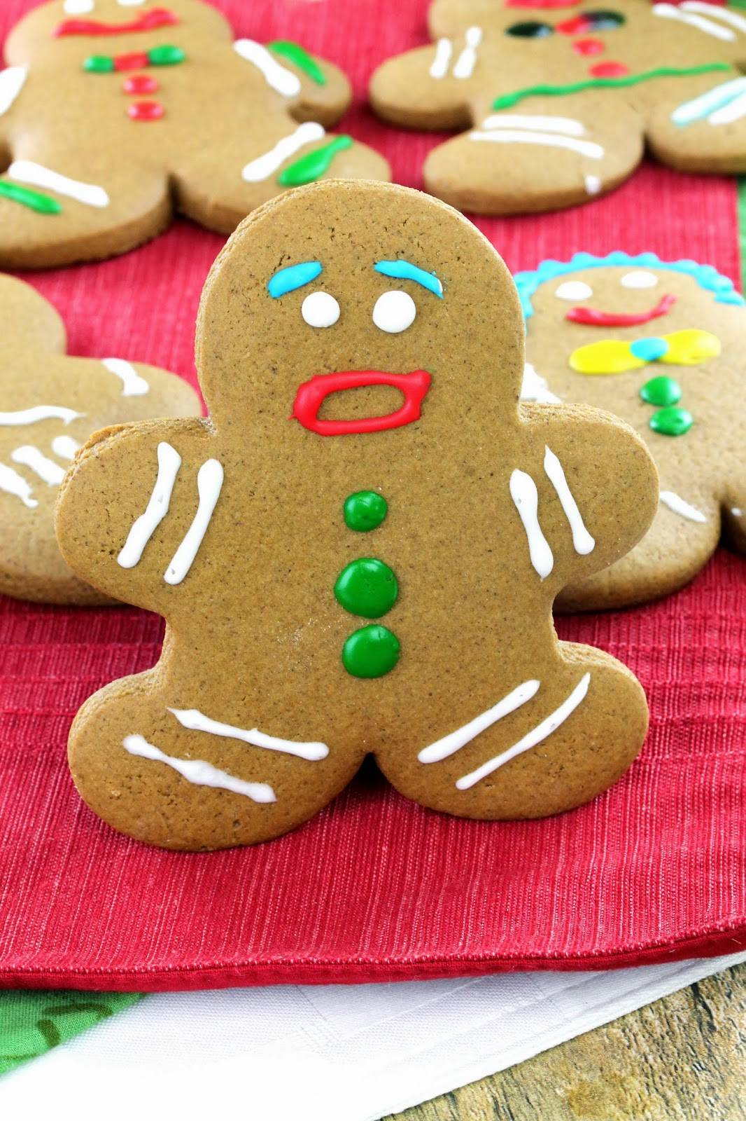 It is a graphic of Clean Gingerbread Men Image