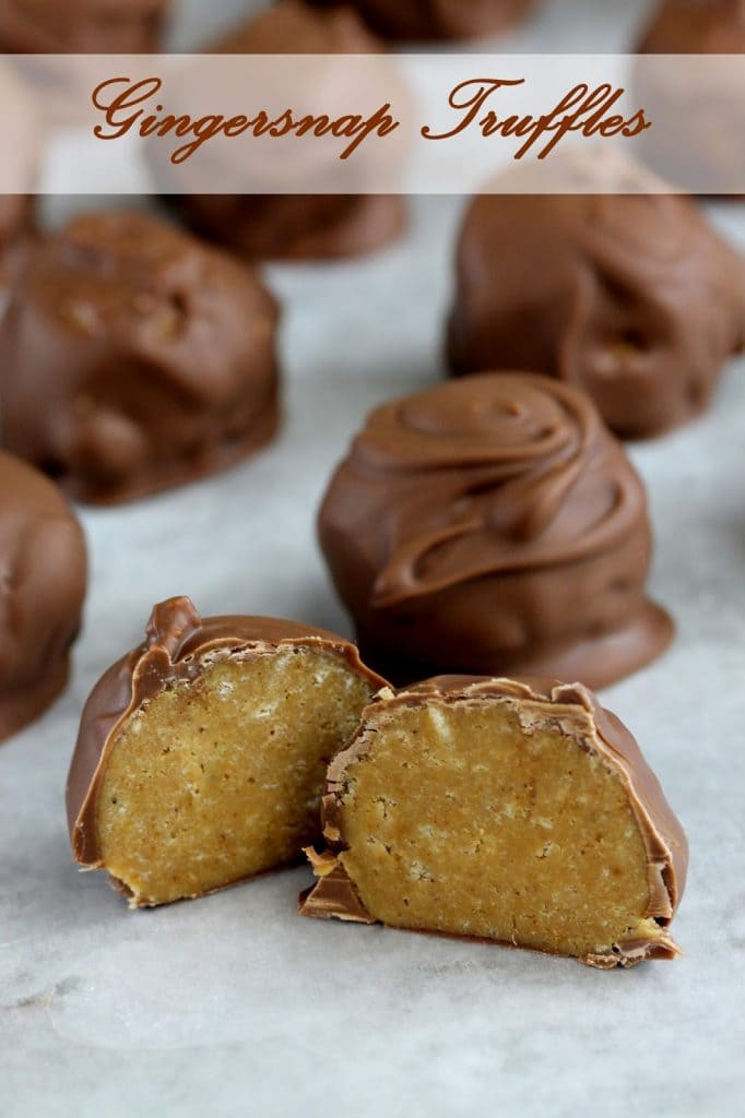 Chocolate covered truffles with a creamy gingersnap filling inside. It's a deceptively easy fancy treat.