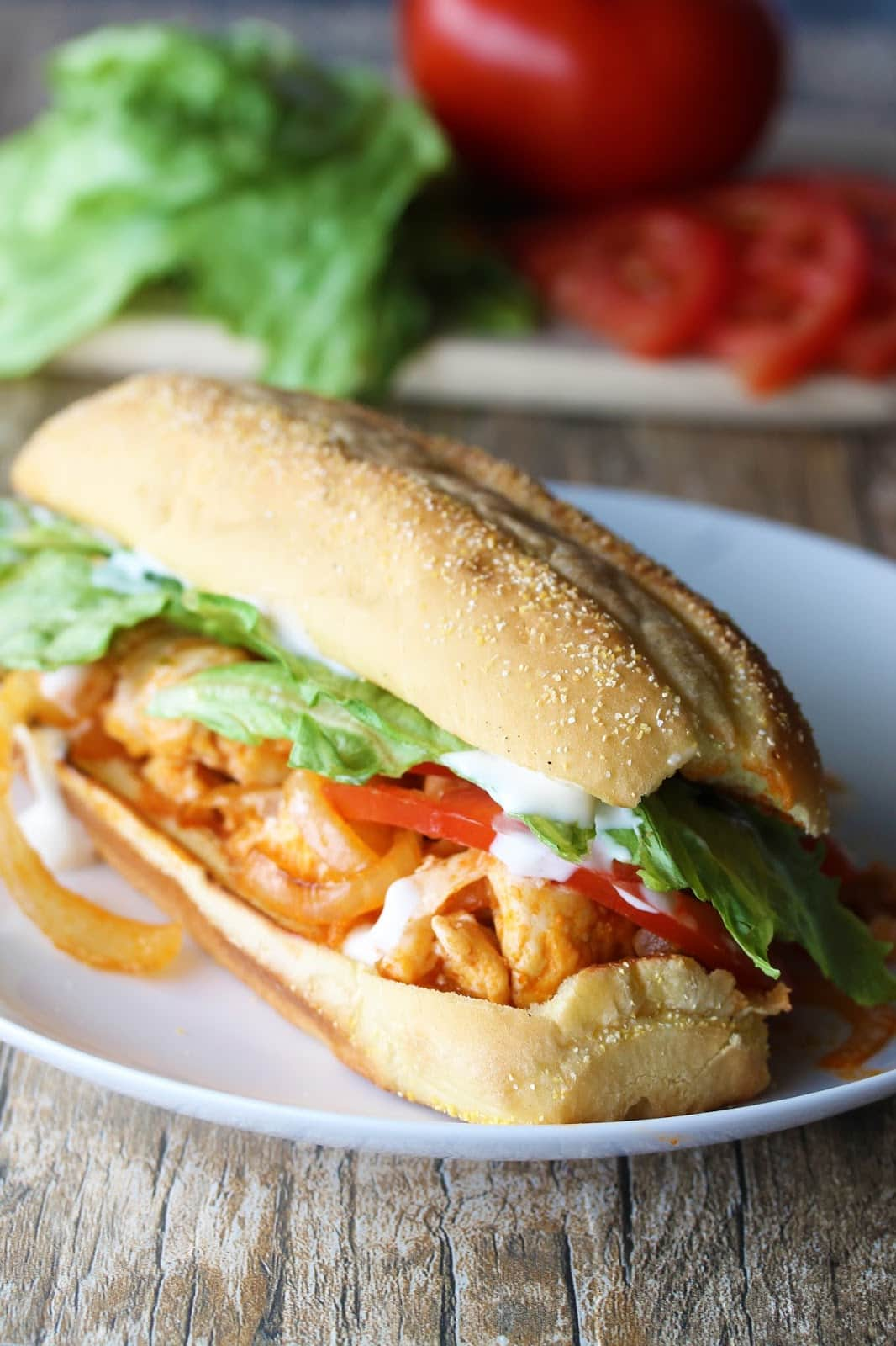 Quick And Easy Buffalo Chicken Sub Sandwiches