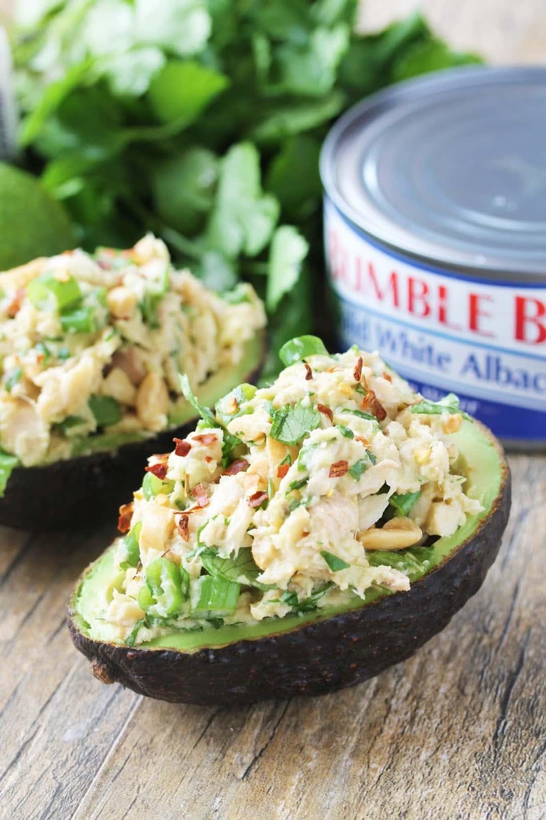 Healthy Thai Tuna Stuffed Avocado