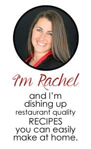 Hi, I'm Rachel and I'm dishing up restaurant quality recipes you can easily make at home.