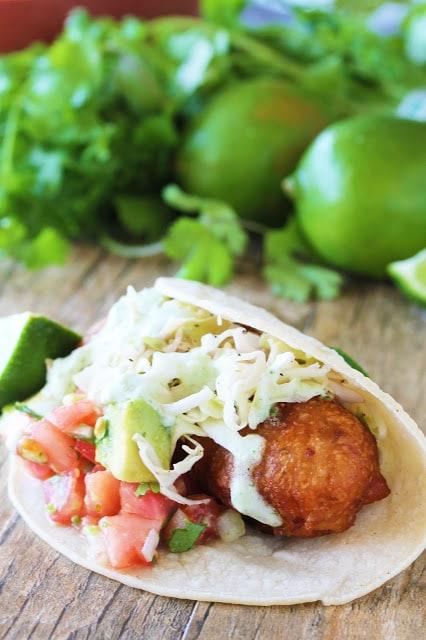 Battered Cod Fish Tacos