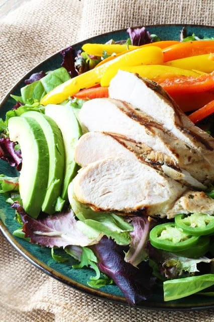 mojo grilled chicken salad