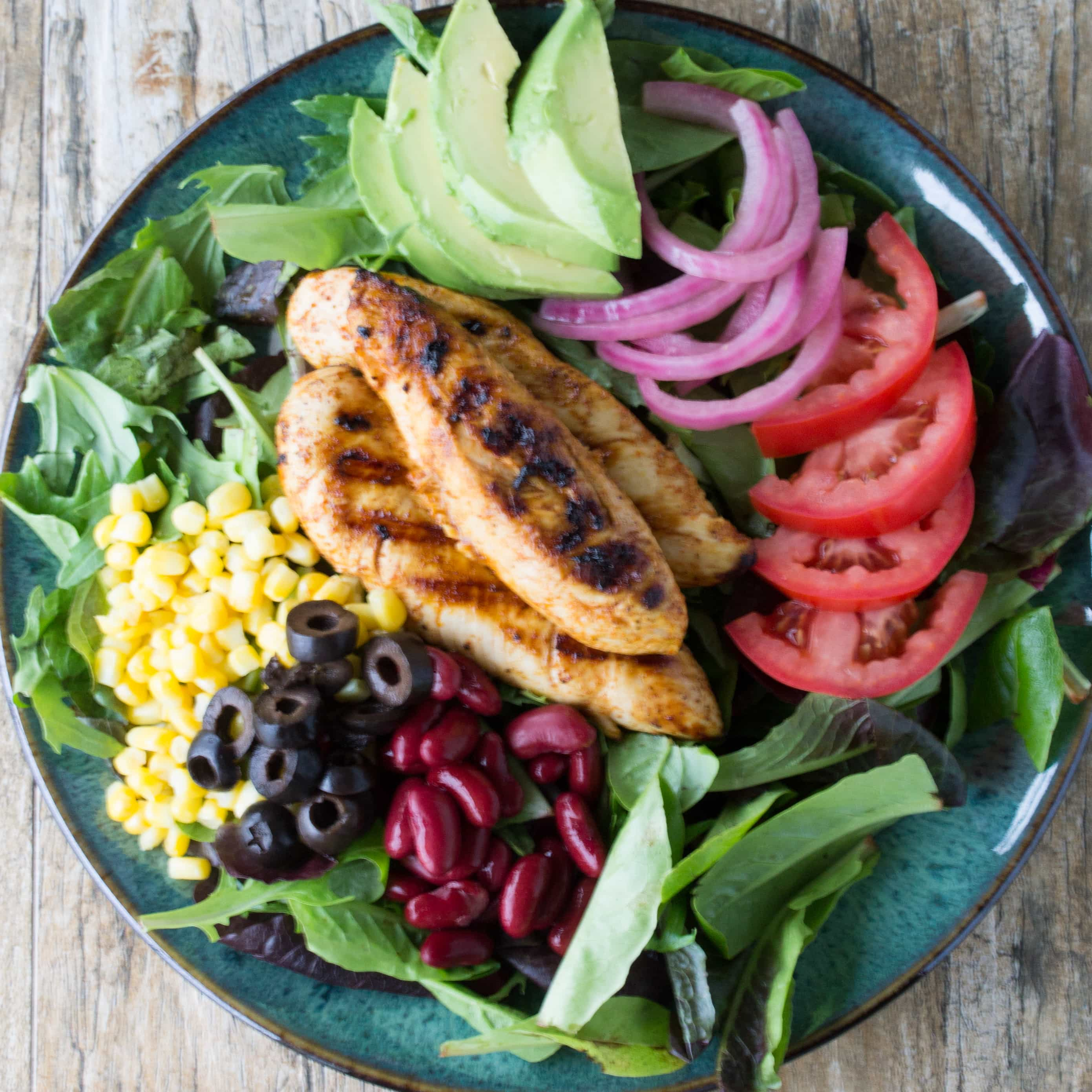 Healthy Taco Salad with Cilantro-Lime Vinaigrette