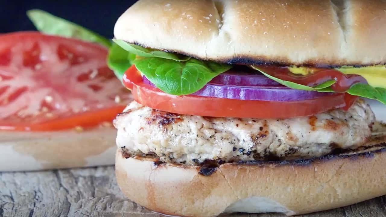 Juicy Grilled Turkey Burger Recipe