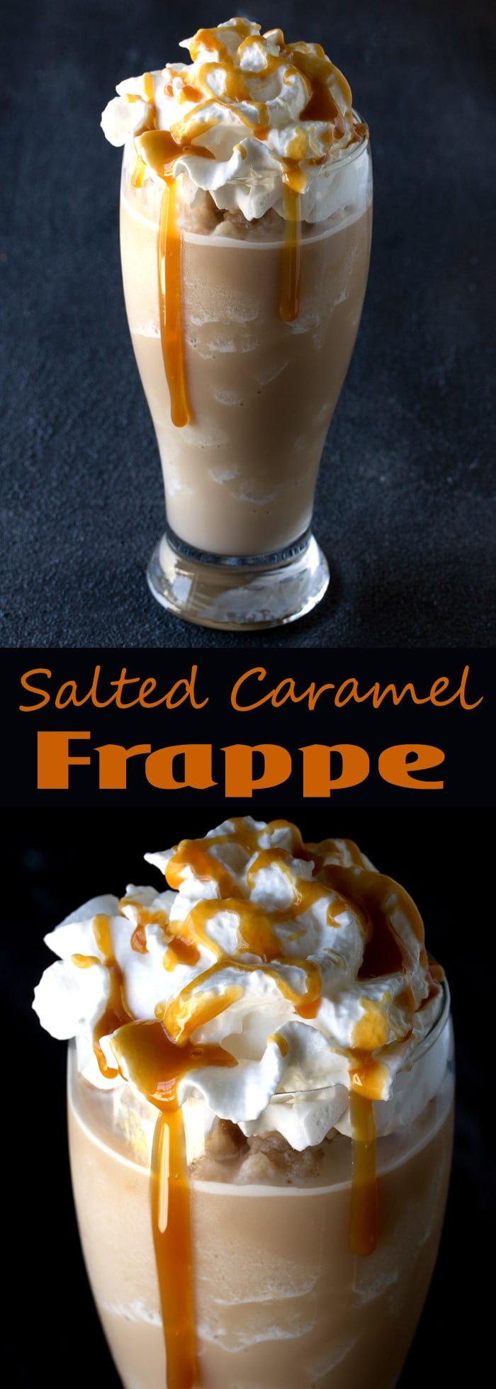 Homemade Salted Caramel Frappes are an easy, cold, refreshing treat ready in just 5 minutes. Save your dollars and make it yourself at home!