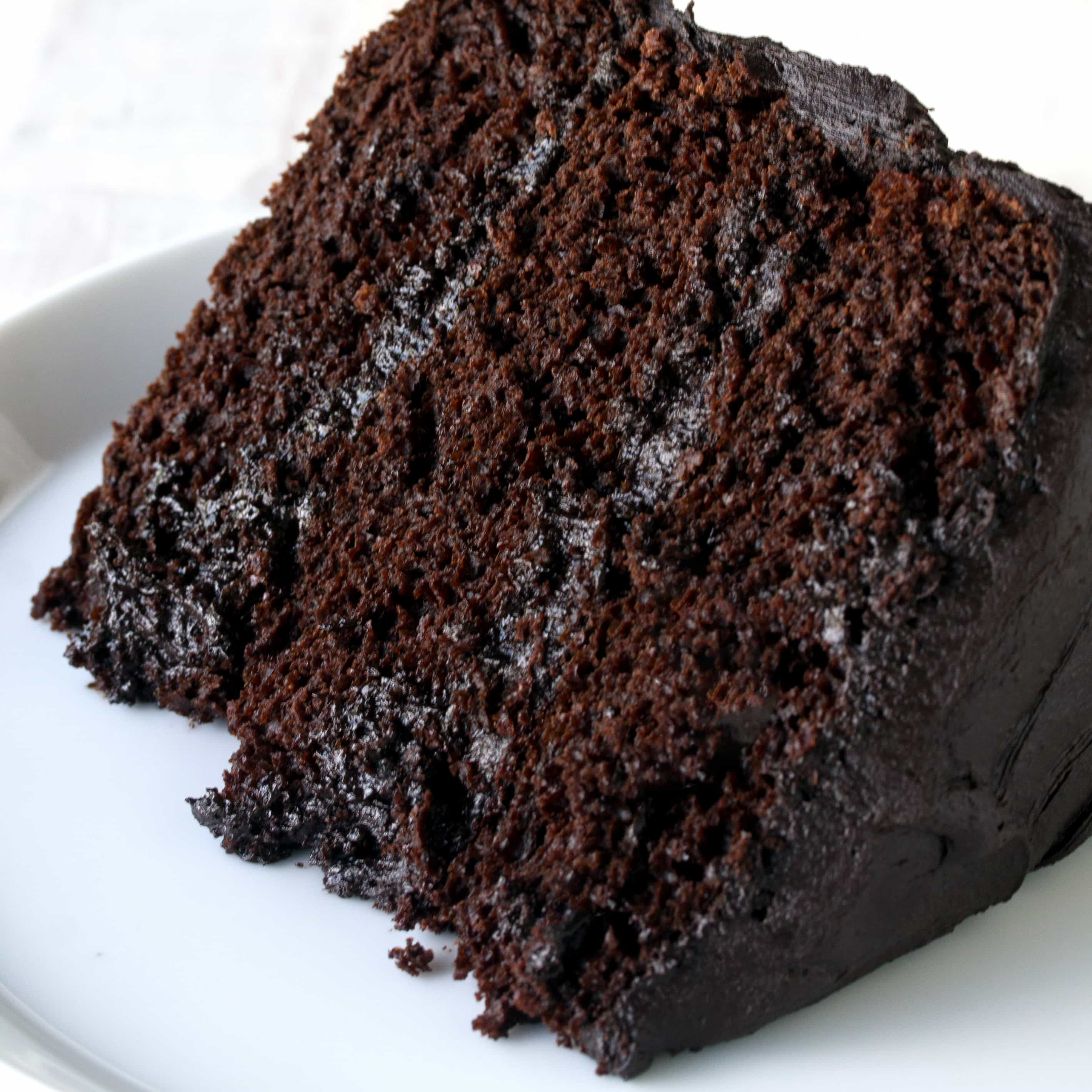 Rum Square Chocolate Cake