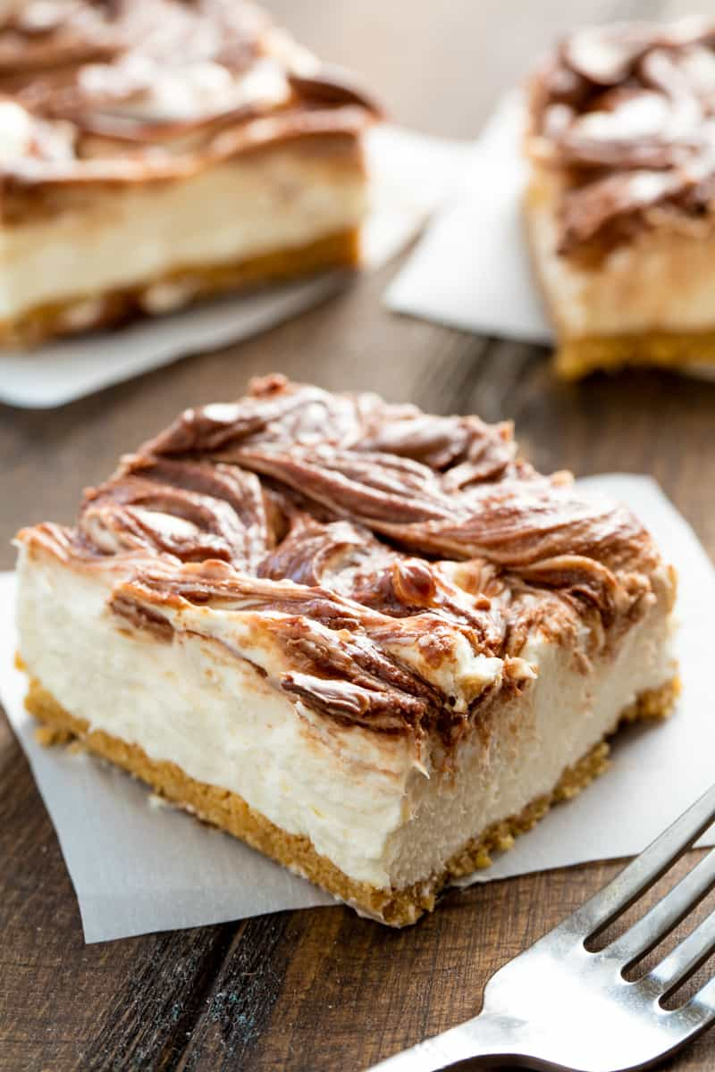 No Bake Cheesecake Bars