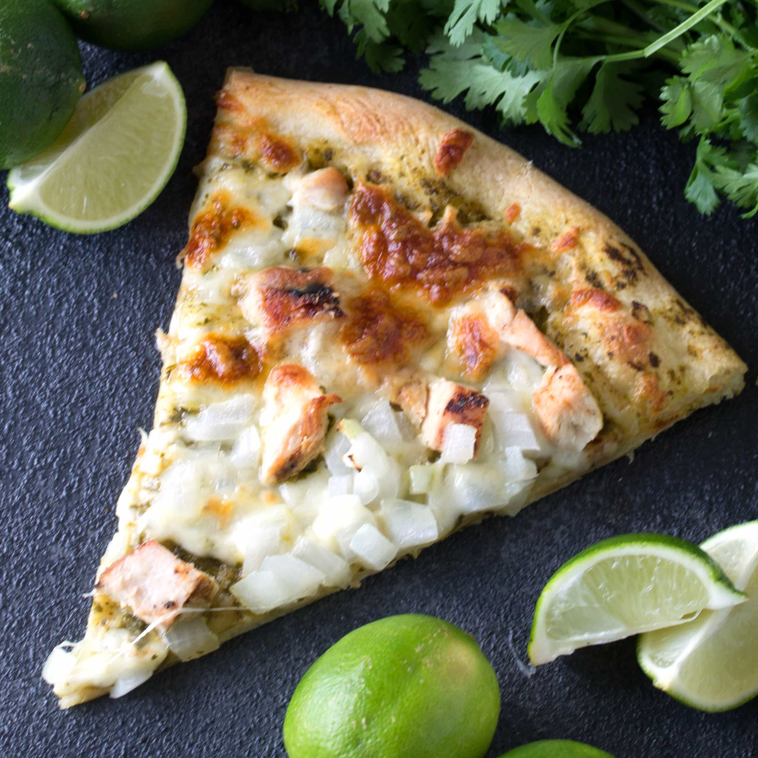 Cilantro Lime Chicken Pizza will have all cilantro lime lovers falling in love with this simple, but tasty pizza combination.