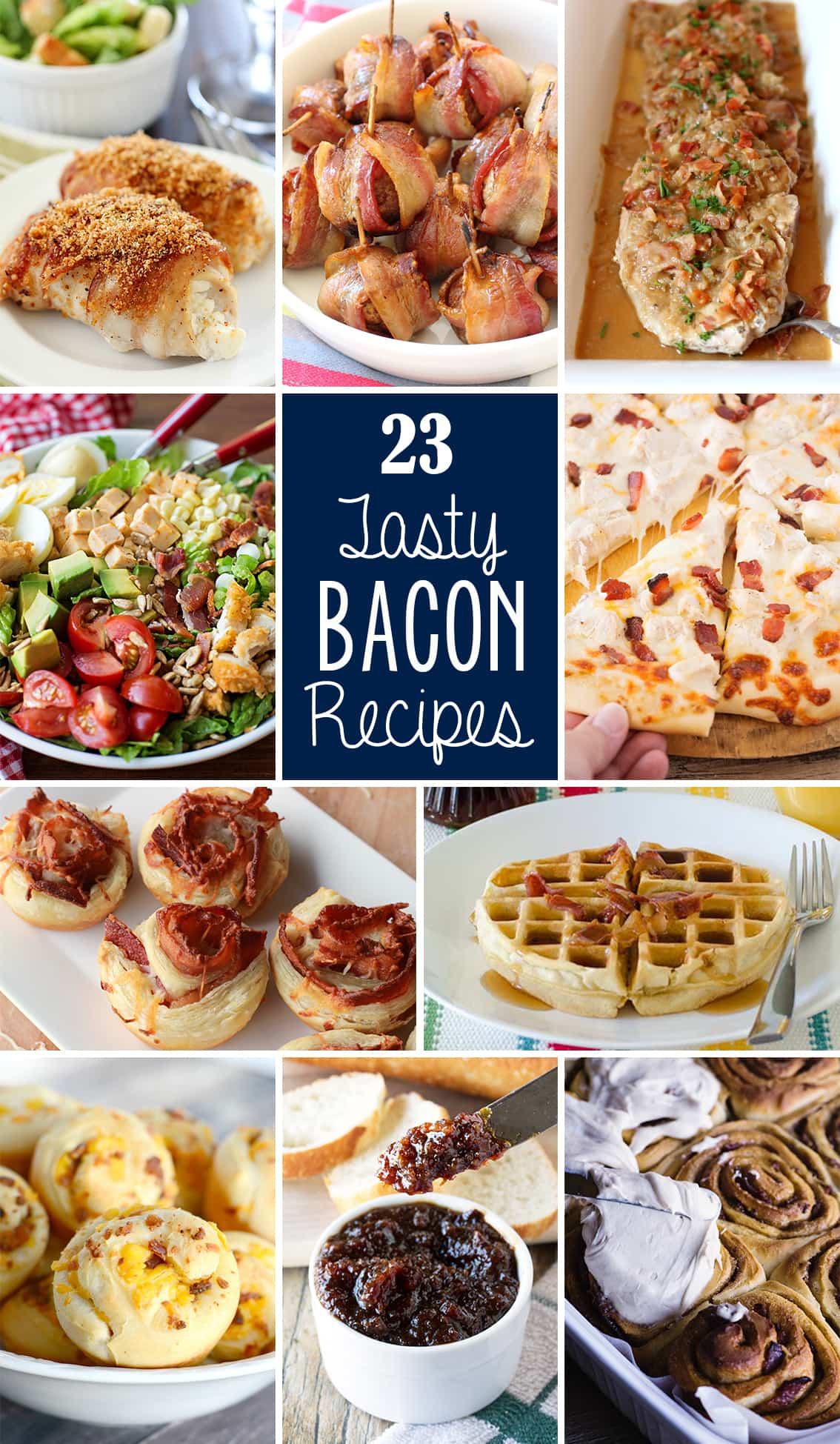 23+ Tasty Bacon Recipes for bacon lovers everywhere! From breakfast, to main dishes, to side dishes and desserts! Bacon can be a part of every meal!