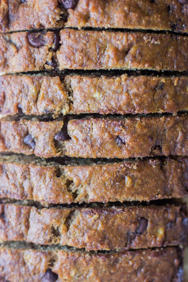 Healthy and easy to make, this whole wheat greek yogurt banana bread comes together in one bowl and is filled with good-for-you ingredients.