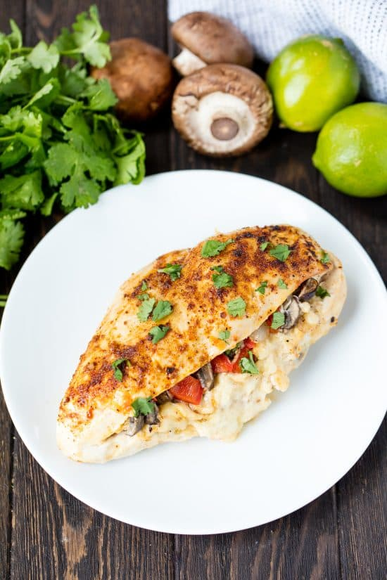 All the flavors you love from chicken fajitas in a fun and easy low carb format. Fajita Stuffed Chicken is a dish the whole family will love!