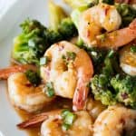 Spicy Szechuan Shrimp and Broccoli is a super easy way to enjoy this American Chinese takeout favorite at home and it's ready in just 15 minutes!