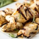 Rosemary Ranch Grilled Chicken Kabobs have the perfect marinade for the juiciest, flavorful and tender chicken kabobs for your summer backyard barbecues. This recipe will certainly impress!