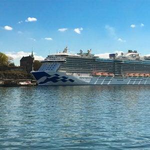Regal Princess cruise ship docked in Norway