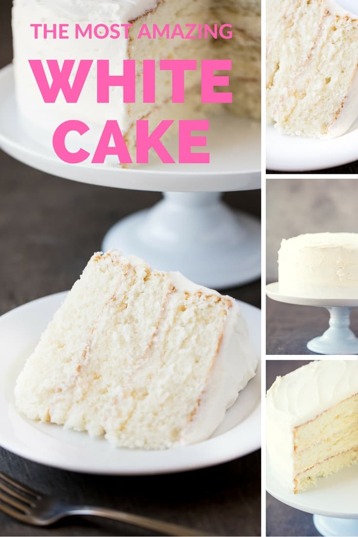 The Most Amazing White Cake Is Here It S Light And Airy And Absolutely