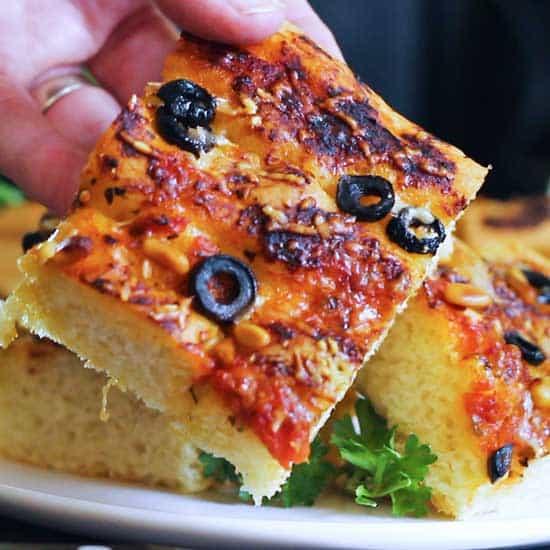 Amazingly Easy Zesty Focaccia Bread