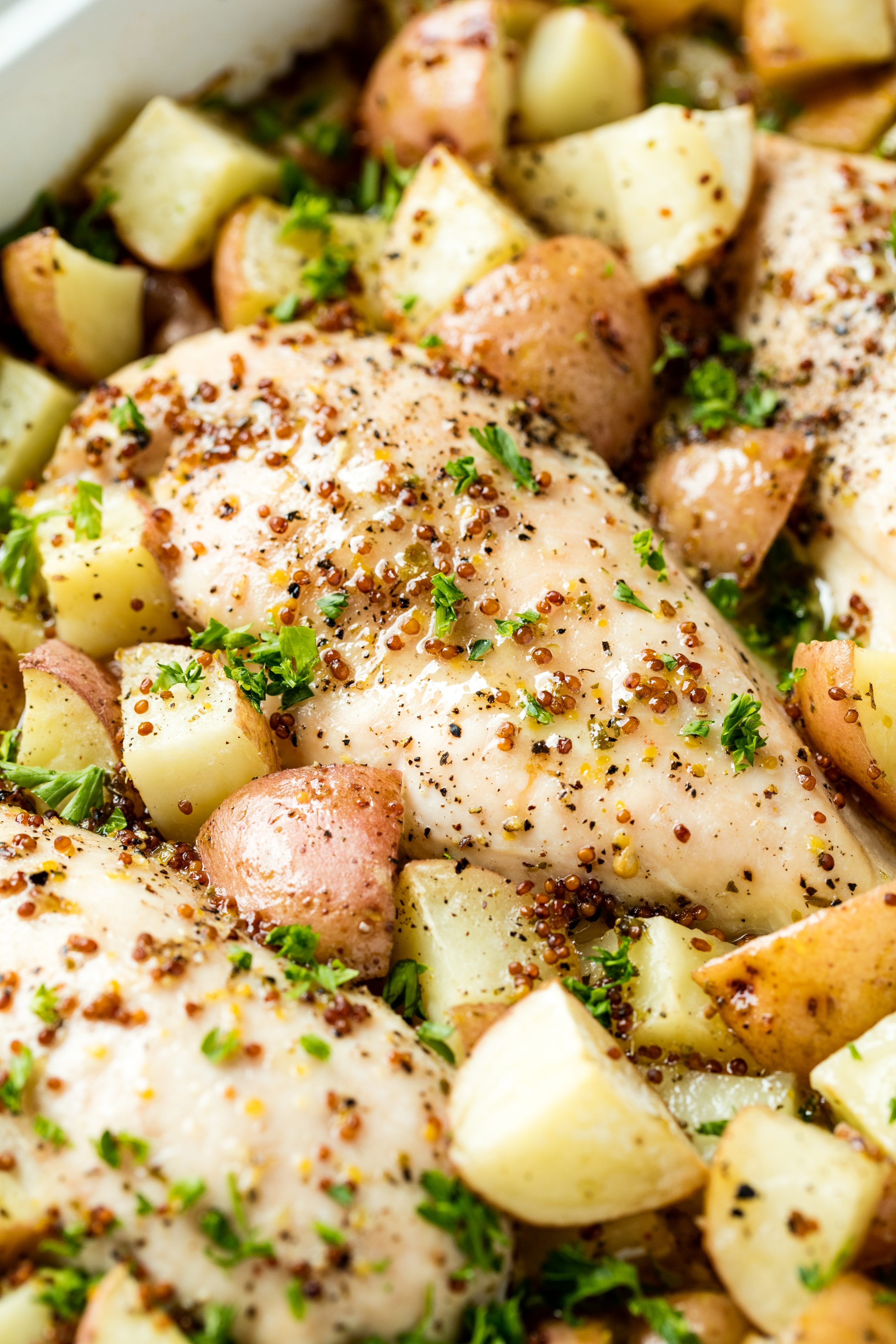Baked Honey Dijon Chicken and Potatoes
